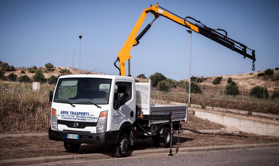 servizio noleggio mezzi autocarri in Sardegna con o senza conducente